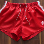 Red Satin Vintage adidas shorts