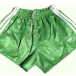 shiny green vintage adidas shorts