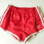 red and pink retro shorts