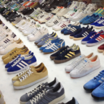collection of adidas trainers
